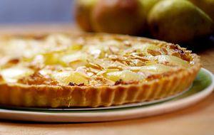Torta de damasco com pera
