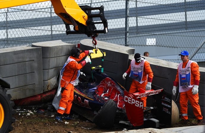 Acidente de Carlos Sainz Jr. Sochi (Foto: Getty)