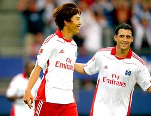 Heung Min Son e Gojko Kacar, Hamburgo.  (Foto: getty image)