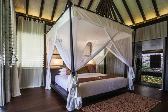 Resort de luxo onde Gabriela Pugliesi está hospedada na Indonésia (Foto: Reprodução / Suarga Padang Padang)