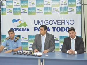 Autoridades da segurança de Roraima falaram sobre os ataques aos ônibus em Boa Vista (Foto: Inaê Brandão/ G1 RR)