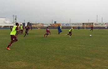Diego Silva e Arthur Henrique treinam como titulares no América-RN