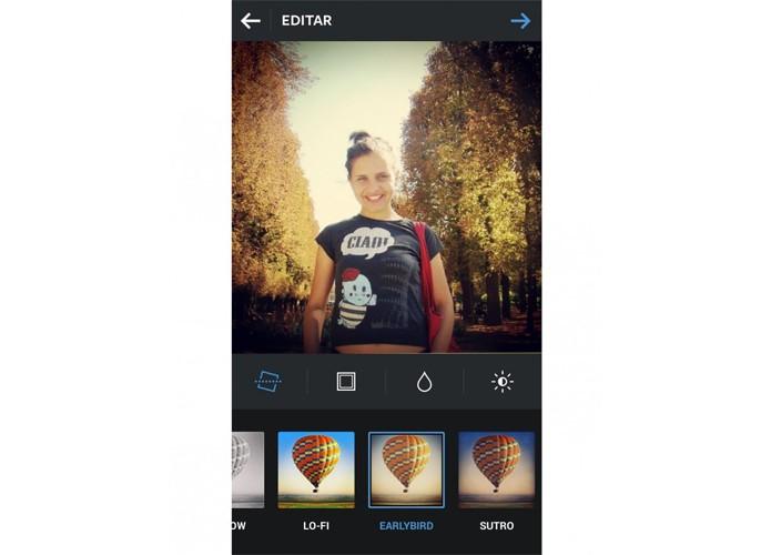 Earlybird dá destaque às cores amarelo e bege das imagens no Instagram (Foto: Reprodução/Taysa Coelho)