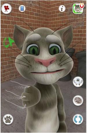 O Talking Tom Cat é um aplicativo que permite conversar com um gatinho virtual (Foto: Divulgação)