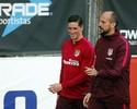 Fernando Torres volta a treinar no Atlético depois de lesão assustadora