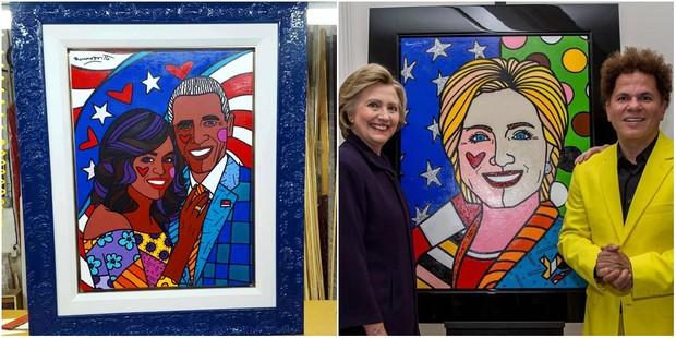 Michelle e Barack Obrama e Hillary Clinton (Foto: Reprodução/Instagram)