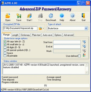 Advanced Zip Password Recovery