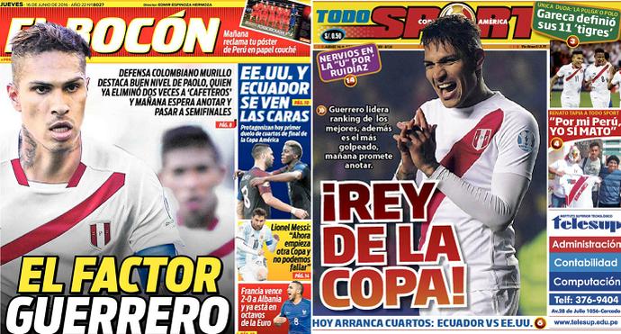 jornais peruanos Guerrero  (Foto: Reprodução)