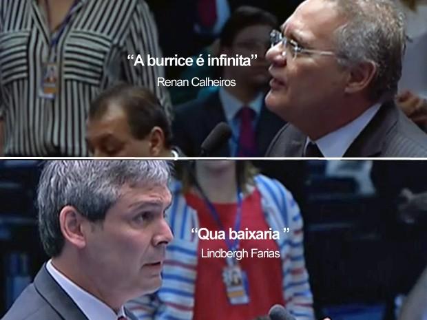 Selo frases renan calheiros e Lindbergh 60 (Foto: reprodução/TV Globo)