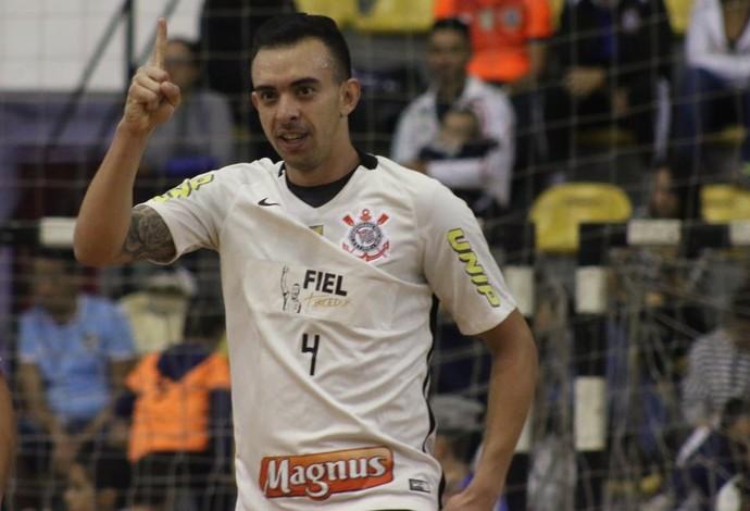 Leandro Caires Corinthians Marechal Rondon Liga Nacional de Futsal (Foto: Yuri Gomes/Elite Comunicação)