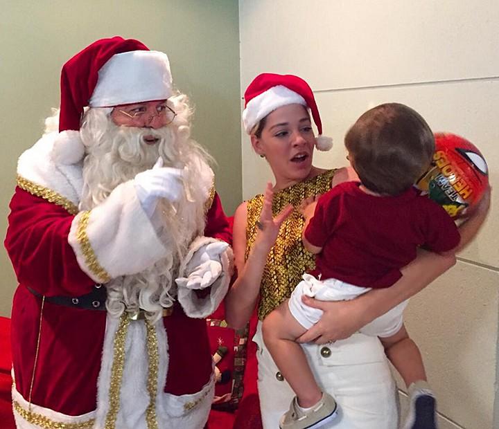 Luma Costa adora festejar com o pequeno Antonio (Foto: Arquivo Pessoal)