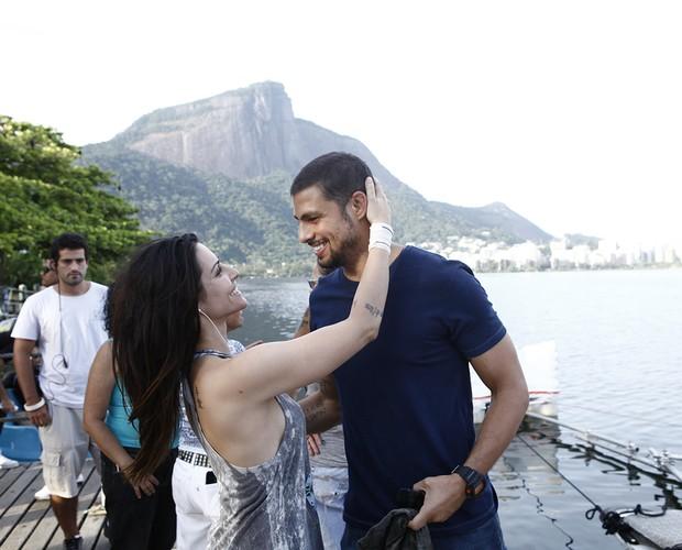 Cleo Pires e Cauã: sintonia nas gravações (Foto: Inácio Moraes/ TV Globo)