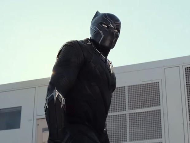Pantera Negra aparece no trailer de 'Capitão América: Guerra civil' (Foto: Reprodução/Youtube/Jimmy Kimmel Live)