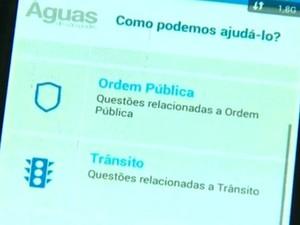 Aplicativo registra críticas e sugestões de moradores de Águas de S. Pedro (Foto: Reprodução/EPTV)