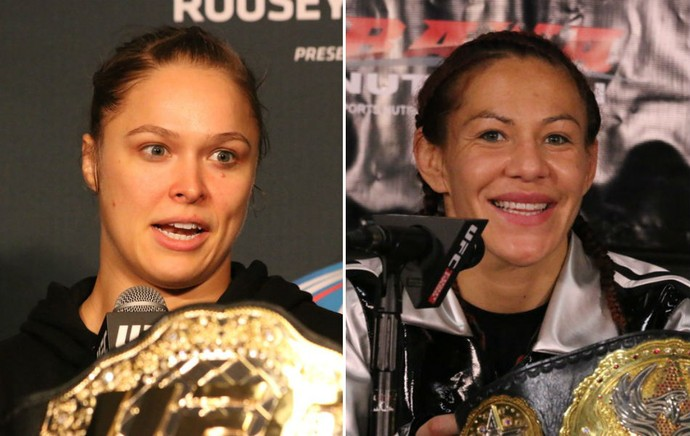 Ronda Rousey Cris Cyborg UFC MMA (Foto: Evelyn Rodrigues)