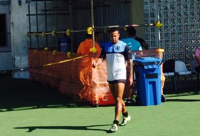 Bill treino Botafogo (Foto: Marcelo Baltar)