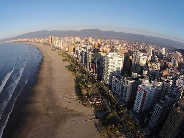 Área rural deu lugar aos prédios e ajudaram no crescimento de Praia Grande (Foto: Marcelo Guedes/Prefeitura de Praia Grande)