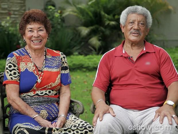Dona Carmelita e Seu José viram uma amizade se transformar em amor (Foto: Amor à Vida/TV Globo)