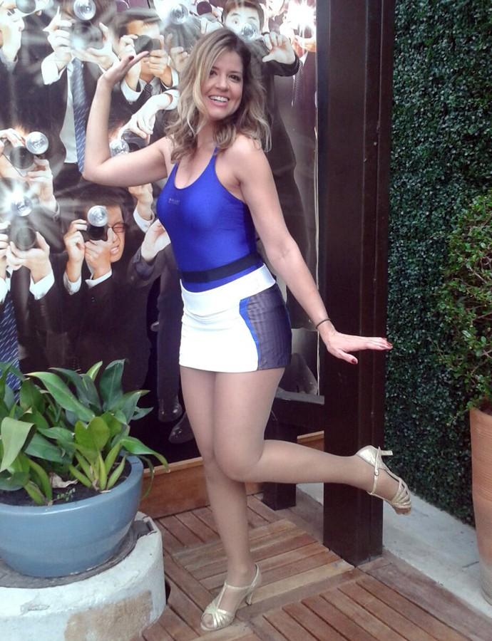 Mariana Santos posa na casa do Dança dos Famosos (Foto: Gshow)