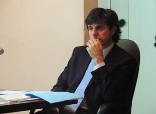 Julgamento Márcio Chagas relator Paulo Abreu (Foto: Paula Menezes/GloboEsporte.com)