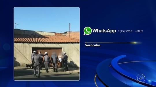 Vídeo mostra confusão entre policiais militares e moradores durante abordagem