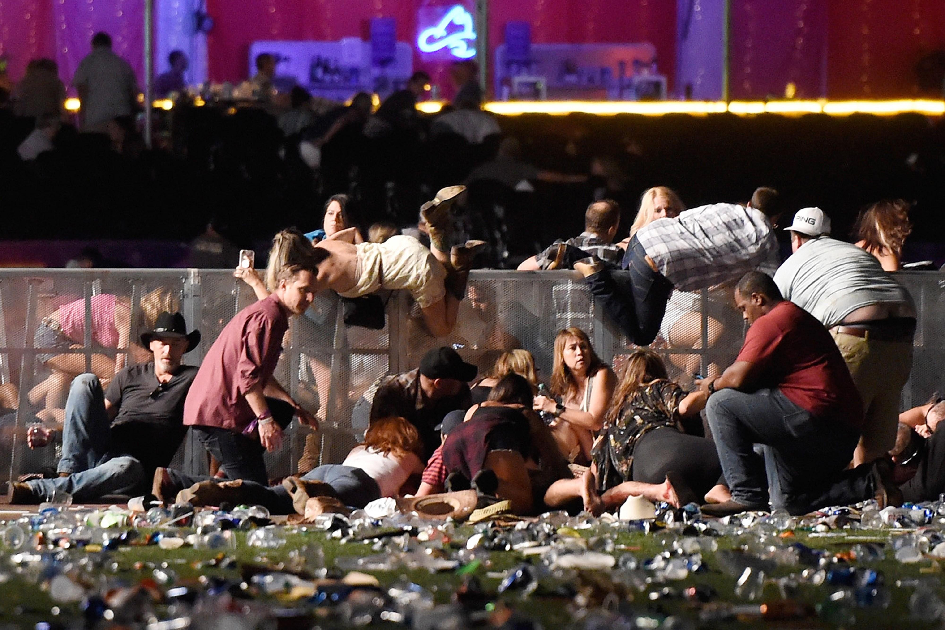 Foto feita no atentado em Las Vegas, outubro de 2017 (Foto: David Becker/Getty Images)