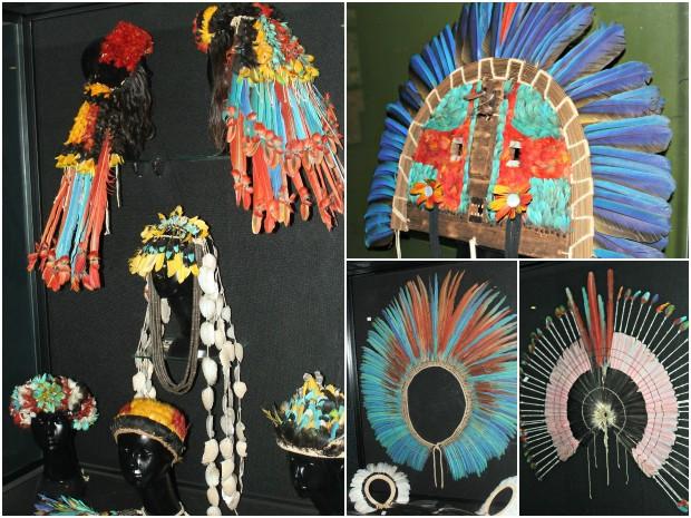 Terceiro ambiente é destinado à manifestação artística indígena, através da arte plumária (Foto: Tiago Melo/G1 AM)