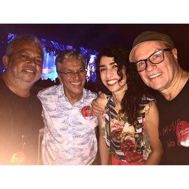 Caetano Veloso e Marisa Monte no show dos Rolling Stones (Foto: Reprodução/Instagram)