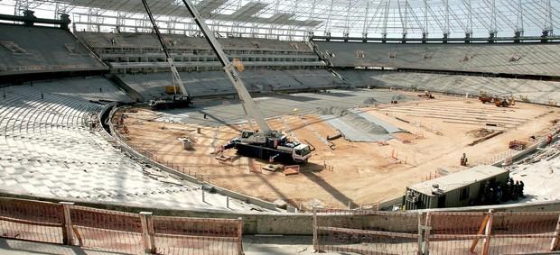 Obras do estádio Castelão (Foto: Kid Junior / Agência Diário)