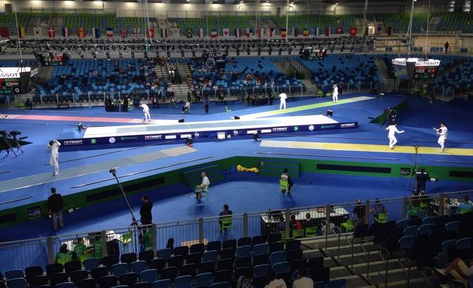Evento-teste esgrima Arena Carioca 3 (Foto: Zeca Azevedo)