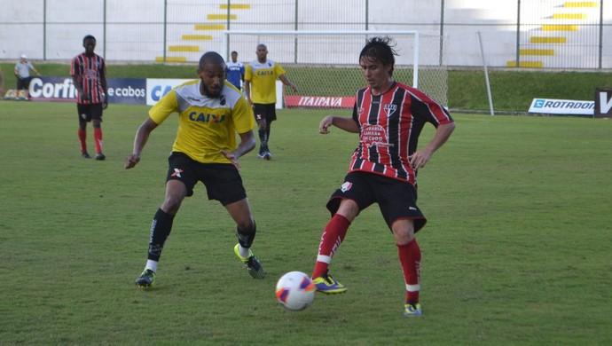 Juninho Bahia Santa Cruz de Natal x ABC (Foto: Jocaff Souza/GloboEsporte.com)