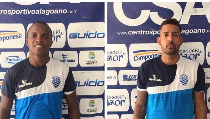 Marcos Antônio, Everton Heleno, Rayro e João Paulo: reforços do CSA (Foto: Assessoria de Imprensa/CSA)