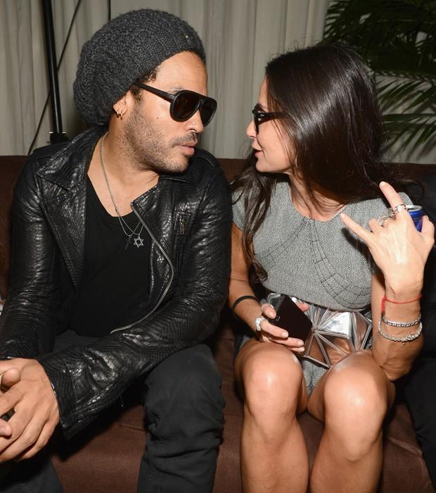 Demi Moore e Lenny Kravitz (Foto: Getty Images)