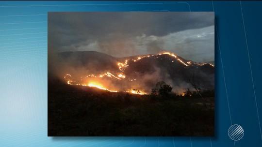 Incêndio atinge local próximo a APA na Chapada Diamantina, na Bahia