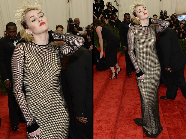 Miley Cyrus no baile do MET (Foto: AFP / Agência)