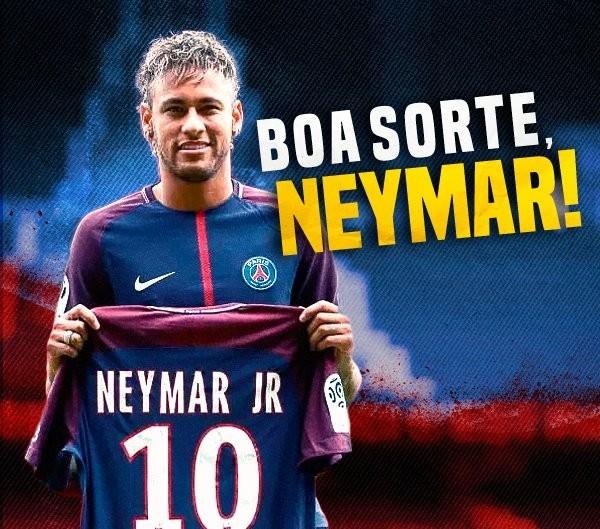 Post de Romário em homenagem a Neymar