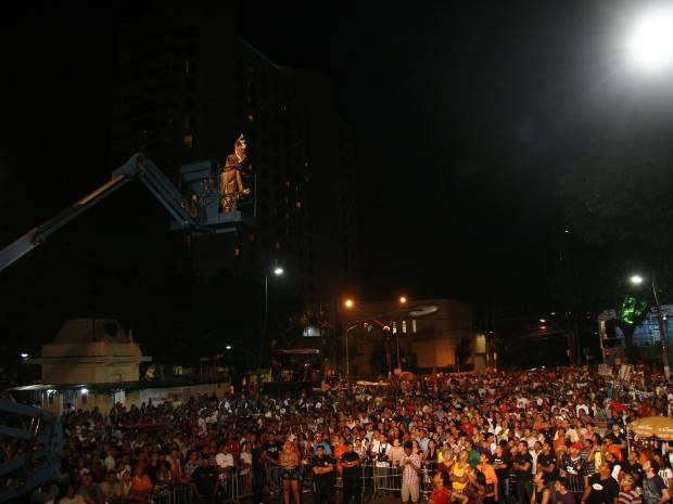Público costuma lotar a Praça da República para a Festa da Chiquita. (Foto: Henrique Felício/O Liberal)
