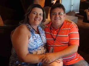O casal Mirian e Eliomar, de Teresina (Foto: Flávia Mantovani/G1)