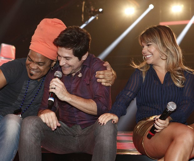 Carlinhos Brown Daniel Fernanda Souza (Foto: Inácio Moraes/TV Globo)
