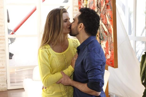 Luciano e Flavia Fonseca  (Foto: Celso Tavares / Ego)