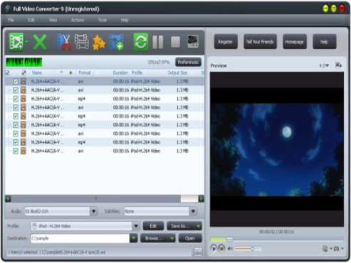screenshot de Full Video Converter