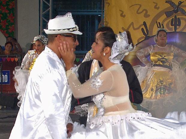 Quadrilha União Junina, do Cabo de Santo Agostinho, emocionou com apresentação 'O teu olhar'.  (Foto: Reprodução / TV Globo)