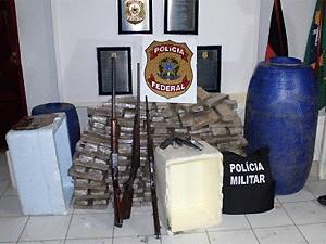 Segundo Polícia Federal, é a maior apreensão de drogas do estado (Foto: Divulgação/PF)