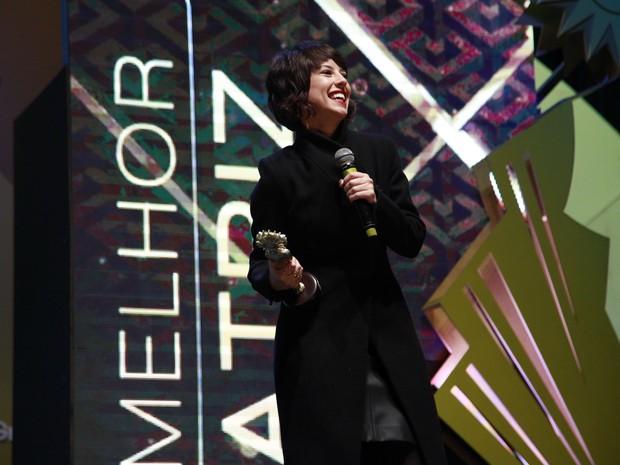 Prêmio de melhor atriz foi para Andréia Horta, em Elis (Foto: Cleiton Thiele/Pressphoto)