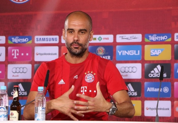 Guardiola Bayern de Munique (Foto: Reprodução/Twitter)