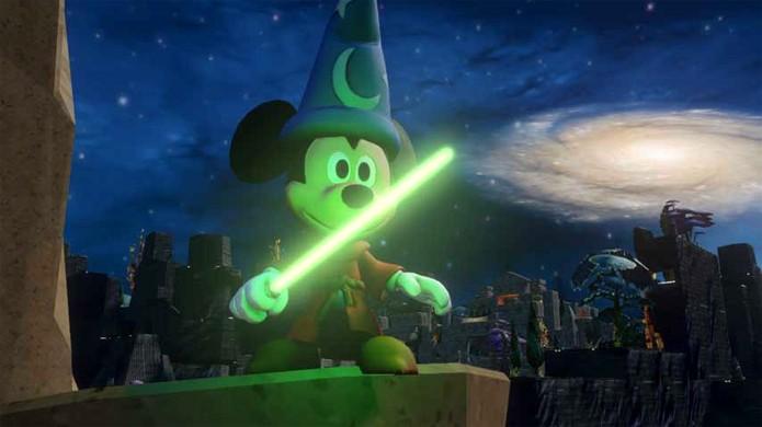 Mickey e todos os outros personagens da Disney podem usar um sabre de luz em Disney Infinity (Foto: vg247.com)