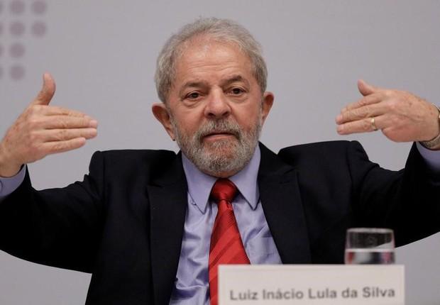 O ex-presidente Luiz Inácio Lula da Silva durante seminário em Brasília (Foto: Ueslei Marcelino/Reuters)