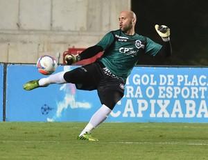 Márcio, goleiro do Rio Branco-ES (Foto: Marcelo Prest/A Gazeta)