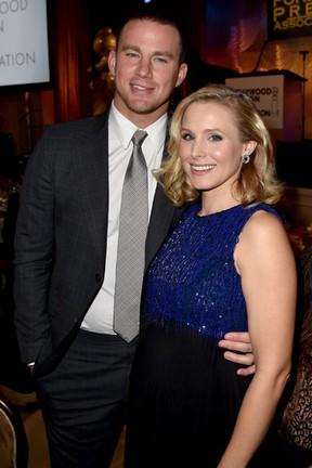 Channing Tatum e Kristen Bell em evento em Los Angeles, nos Estados Unidos (Foto: Kevin Winter/ Getty Images/ AFP)