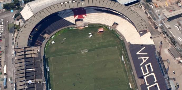 Vascaínos querem dar abraço no estádio de São Januário (Foto: Reprodução Google Maps)